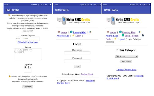 Cara Kirim SMS Gratis All Operator Indonesia