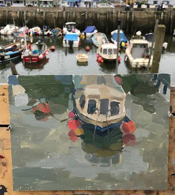#174 'West Bay Harbour' 18x24cm