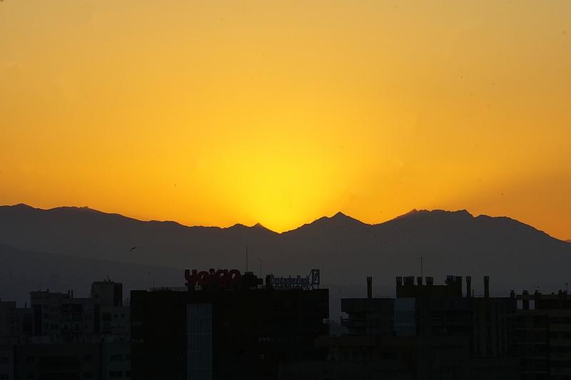 Malaga, auringonlasku, matkailu, matkablogi, Espanja, aurinkorannikko