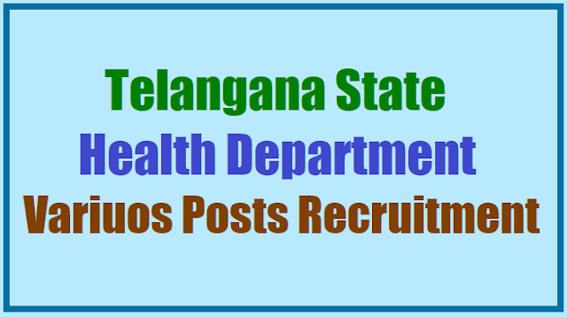 ts tspsc to fill various posts in  health,medical & family welfare department,assistant professors,civil assistant surgeons,staff nurse,anms posts recruitment