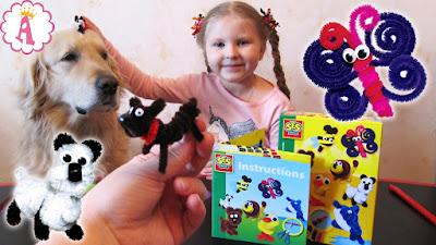 Интересный набор для детского творчества SES Creative Chenille Animal Figures