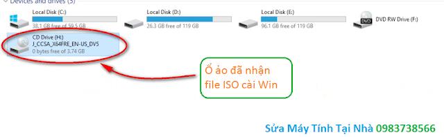 Hình ảnh ổ ảo nhận file ISO