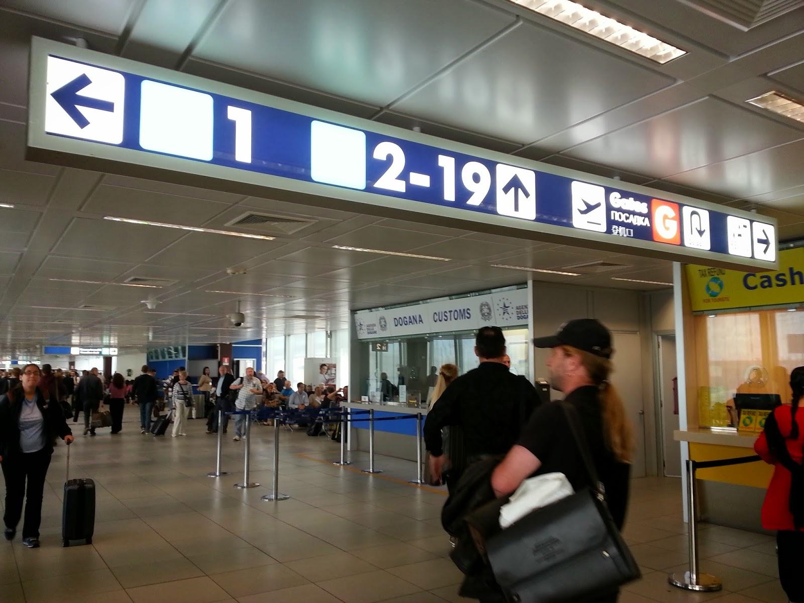 來去玩: 一小時完成羅馬機場三家退稅 (VAT Tax Refund at Rome Fiumicino Airport)