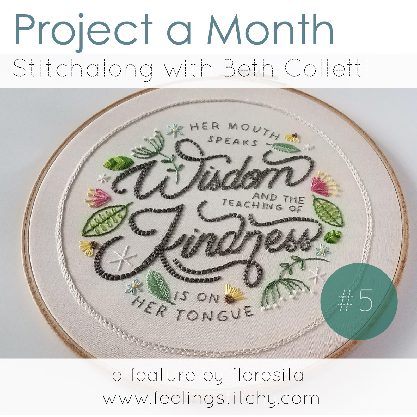 Project a Month May - Mothers Day Stitchalong pattern by Beth Colletti as stitched by floresita for Feeling Stitchy