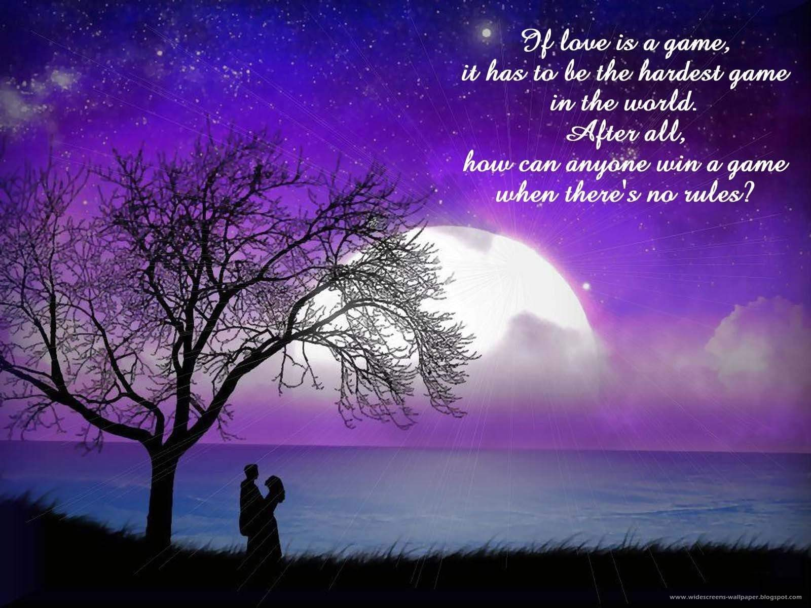 Night moon couple love quotes night wallpapers moon wallpapers sayin wallpapers free qoutes wallpapers 1600 x 1200 resolution
