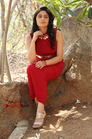Telugu Actress Zahida Sam Latest Pos in Red Gown at RF Films New Movie Opening  0275.JPG