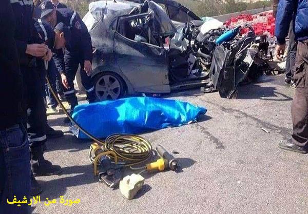 قتيل و 3 جرحى في حادث مرور بالطريق السيار بالشلف