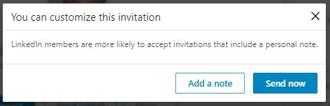 add a note to LinkedIn invitation