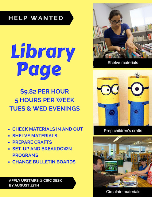 Help Wanted: Part-time Library Page 7-27-16