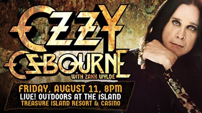 Ozzy Osbourne Treasure Island Setlist