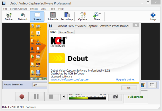 debut video capture professional free download