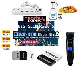 Get Extra 30% Off on Best Selling Products @ Nearbuy (Valid till 31st Dec'15)