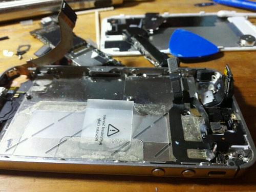 iPhoneの中身がまったくない写真です
