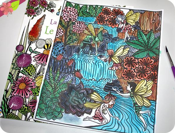 La peinture magique : Le jardin des fées - Usborne
