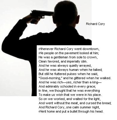 Irony in richard cory