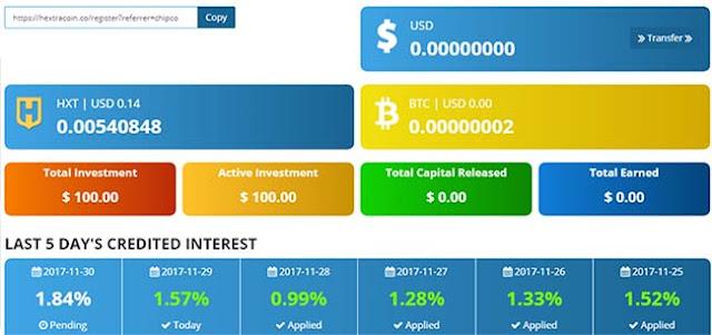 Hướng dẫn đầu tư HextraCoin (HXT) lending với lãi 48%/tháng