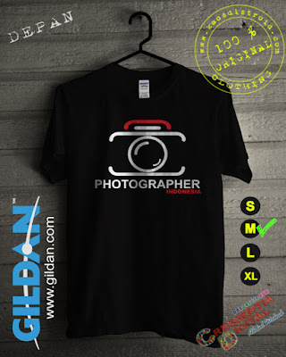 Kaos Gildan Photographer Indonesia Warna Hitam