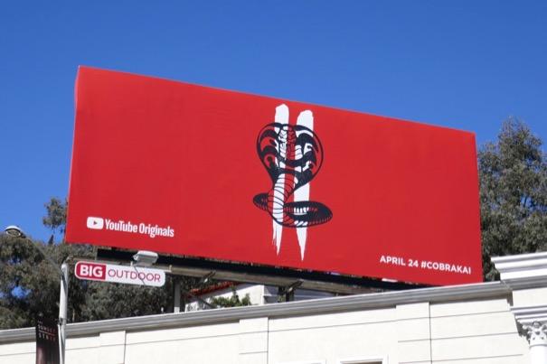 Cobra Kai season 2 billboard