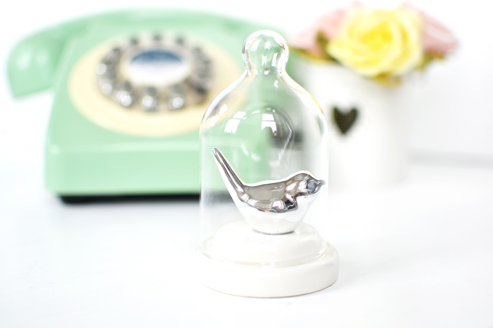 avon bird bell jar ornament, avon homeware