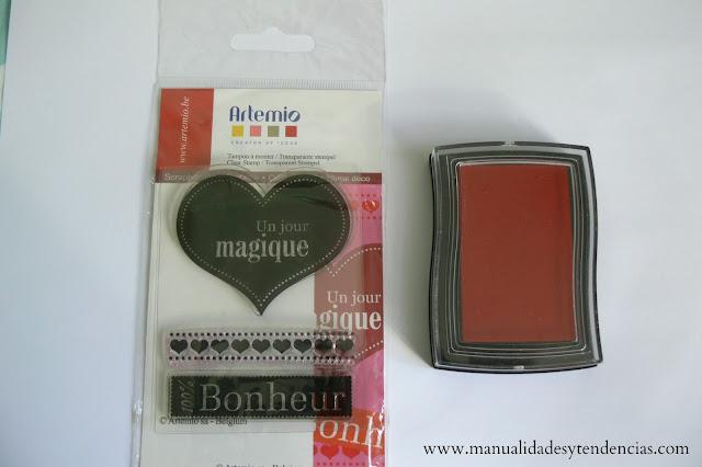 Materiales corazón de San Valentín