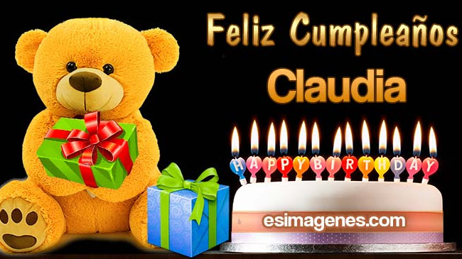 Feliz Cumpleaños Claudia
