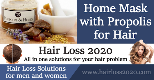 How to Prepare Home Mask with Propolis for Hair (Dandruff Protection+)