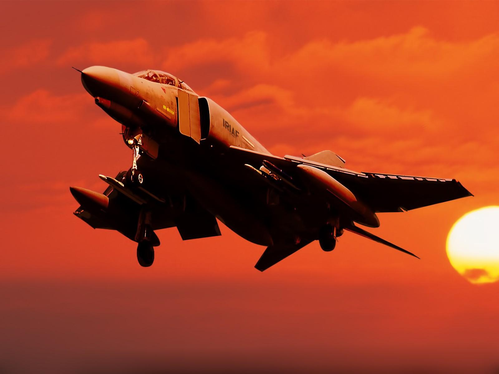 Usaf Mcdonnell Douglas F 4 Phantom Ii Sunset Scene Aircraft