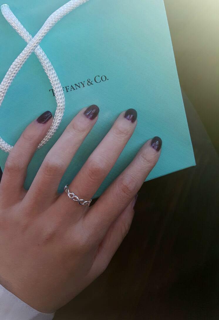 Tiffany & Co Infinity Narrow Band Ring  Raincouver Beauty
