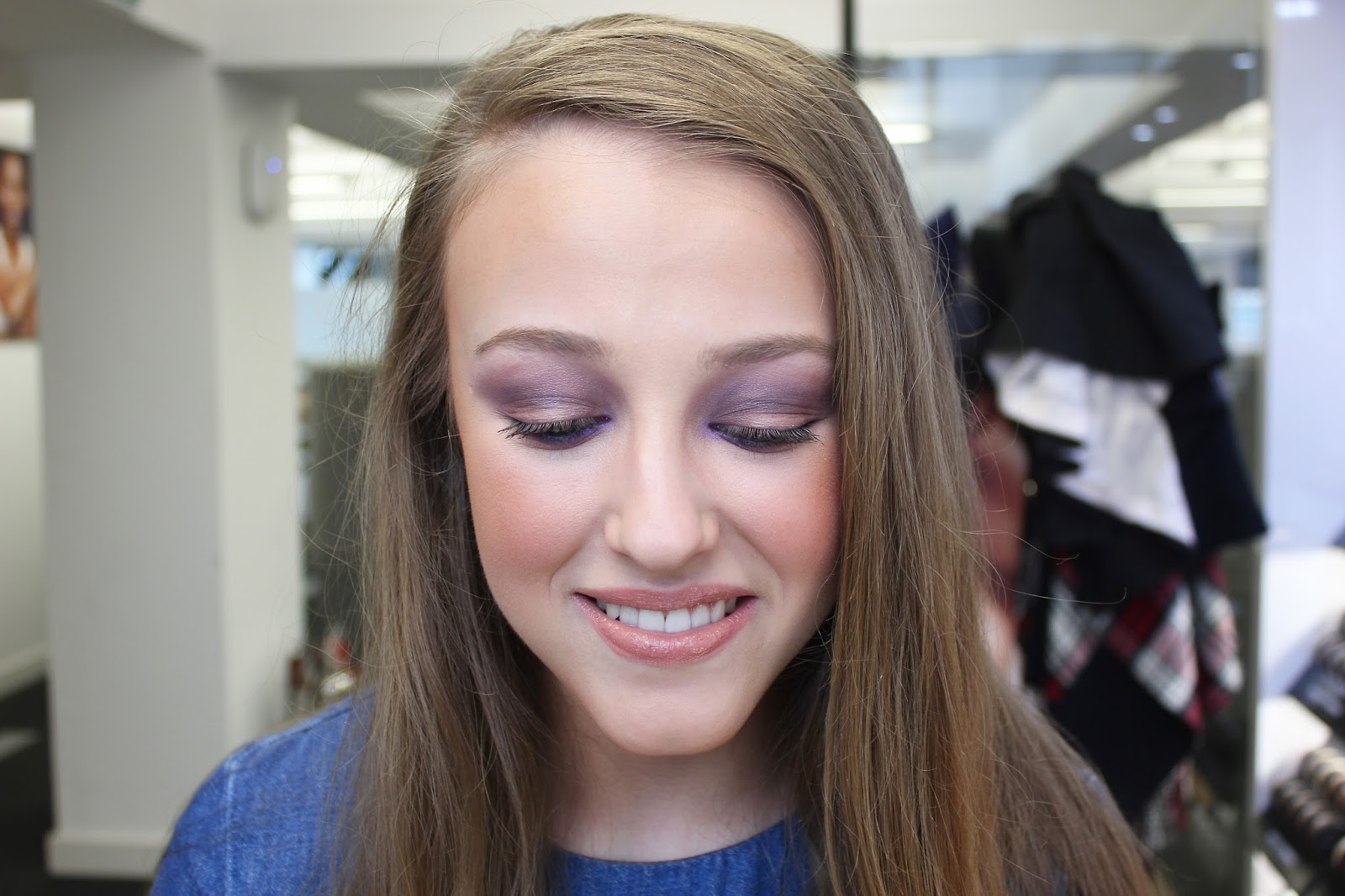 georgie minter-brown, actress, blogger, beauty, bare minerals, makeover, makeup, day makeup look, night makeup look, products,