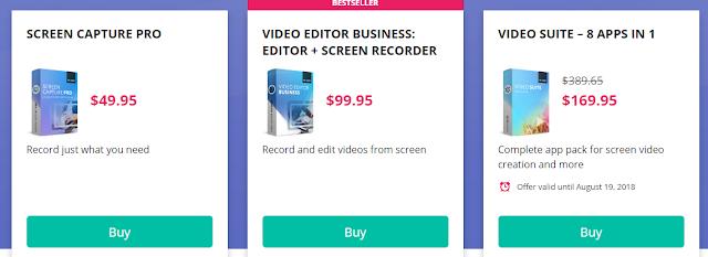 Movavi Screen Capture Studio Pricing Plan