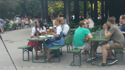 biergarten in the English Garden