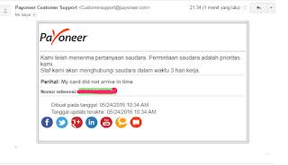 cara mengatasi kartu payoneer tidak sampai