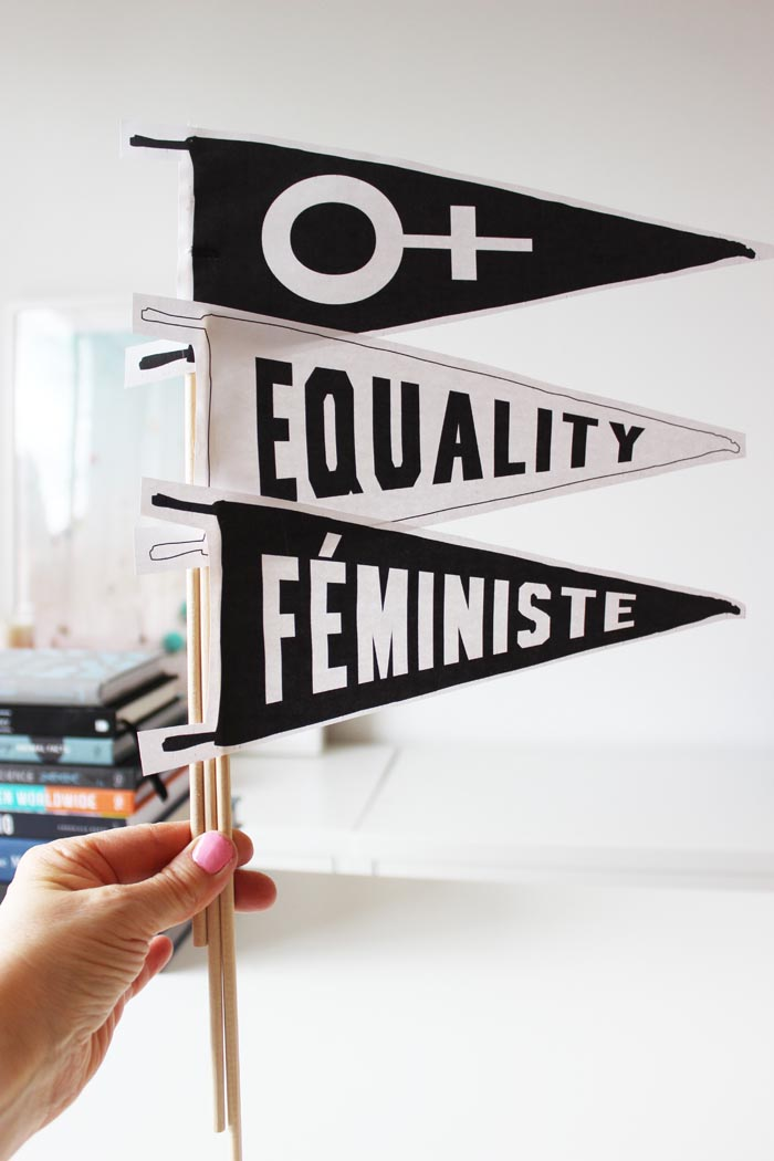 photograph about Printable Pennants known as Equality Printable Pennants Poppytalk