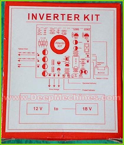 Rangkaian Pemasangangan INVERTER KIT DC 12V to 18V CT