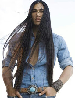 native indian with long hair