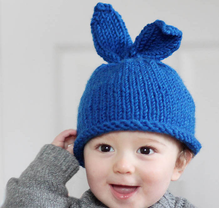 Free Knitting Pattern Hat With Ears : Free Baby Hat Knitting Patterns - Gina Michele