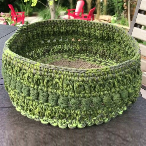 Crochet Fancy Basket - Free Pattern