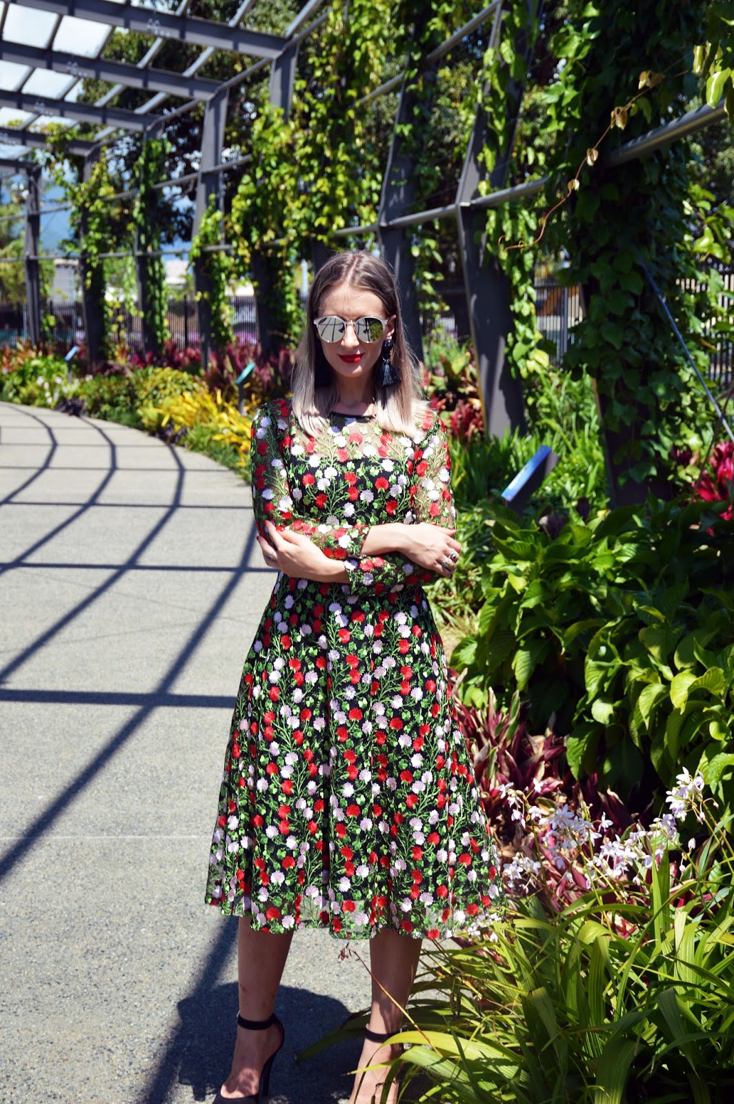 dolce and gabbana style black red floral dress 7f1e89ef8