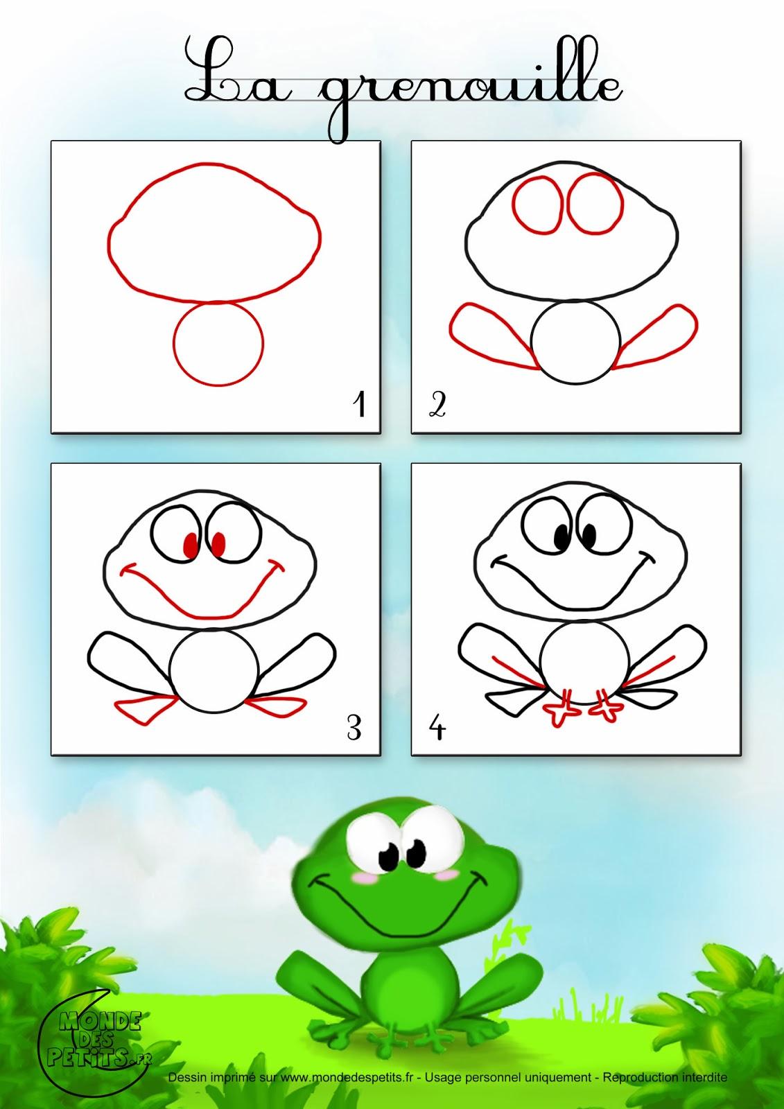 apprendre-dessiner-animaux-grenouille.jpg (1131×1600 ...