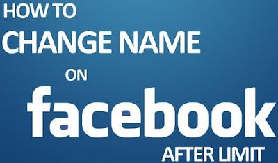 Mengganti Nama Akun Facebook Sebelum 60 Hari