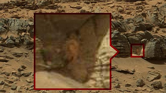 Imagens misteriosas de Marte - Caranguejo em Marte