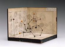 Model molekul Penisilin oleh Dorothy Hodgkin, 1945