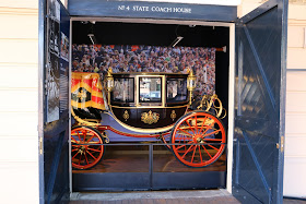 Glass Coach at the Royal Mews, Buckingham Palace