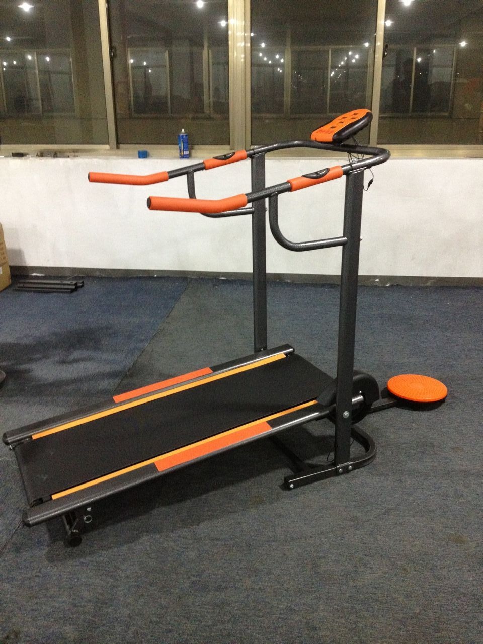 Treadmill Manual Jember Lengkap Berkualitas Bisa Cod Alat Fitness Tl 5008 2 Fungsi Dengan Warna Orange Spesifikasi Untuk Berlari Dan Berjalan Twister Monitor Speed Time Kalori Distance Pulse