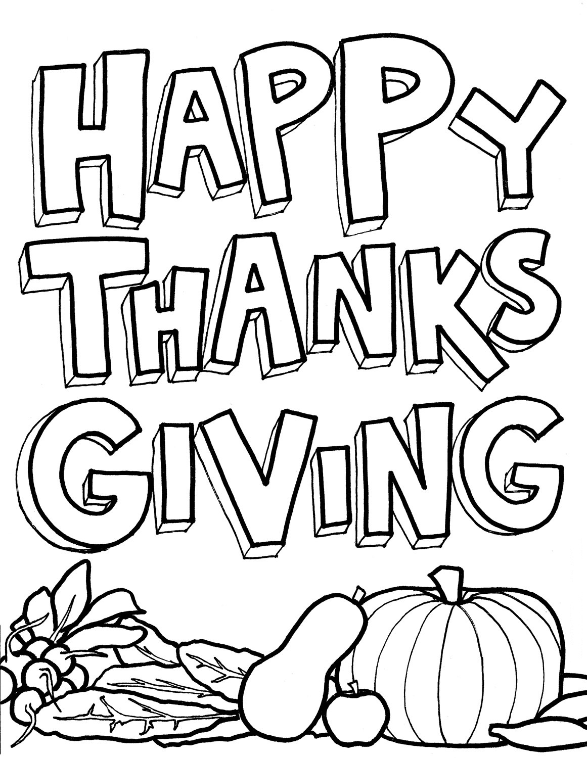 Happy Thanksgiving Coloring Child Coloring