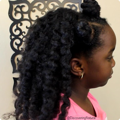 "5 Easy ""1 Minute"" Natural Hair Hairstyles for Kids"