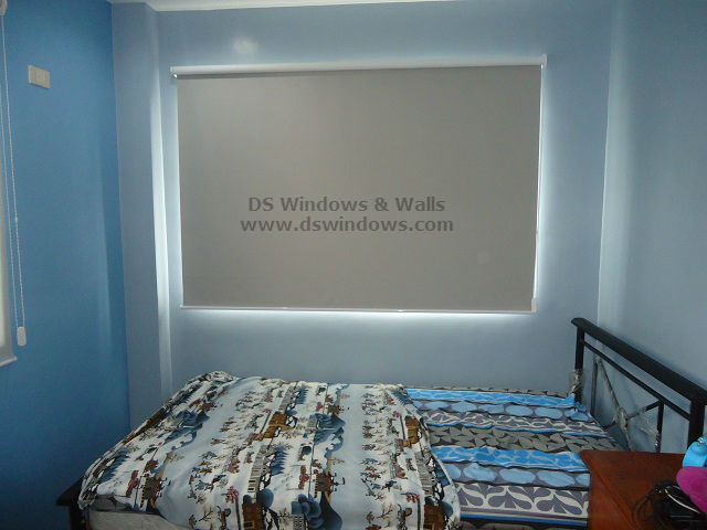 Blackout Roller Blinds installed at Greenwoods, Taytay Rizal