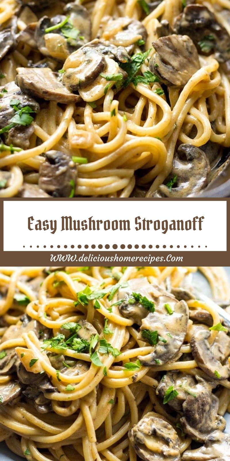 Easy Mushroom Stroganoff