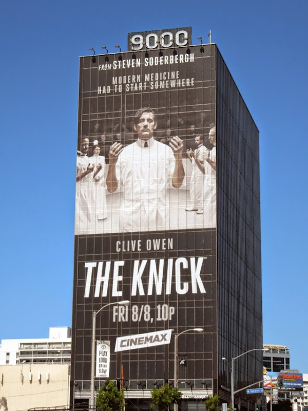 Giant Clive Owen The Knick series premiere billboard