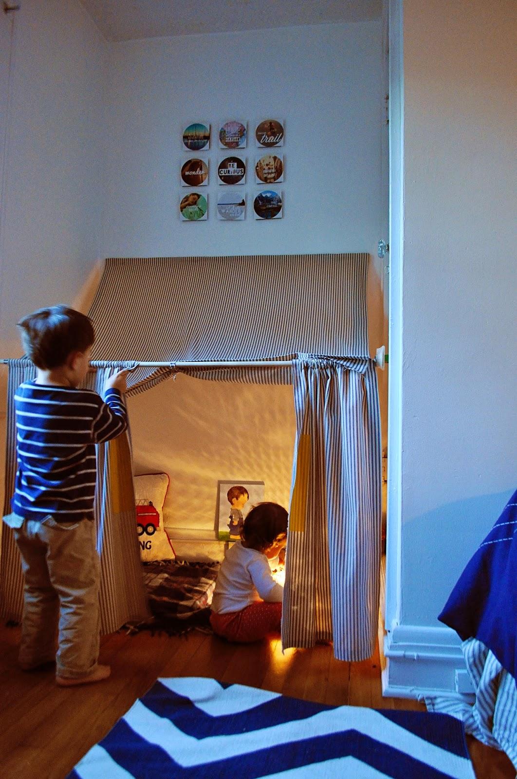Ducklings In A Row - Hair + DIY Tutorials: Indoor Tent How-To